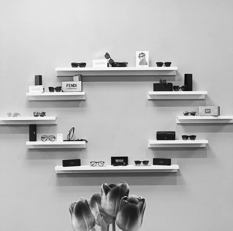 VisTech products displayed on the wall
